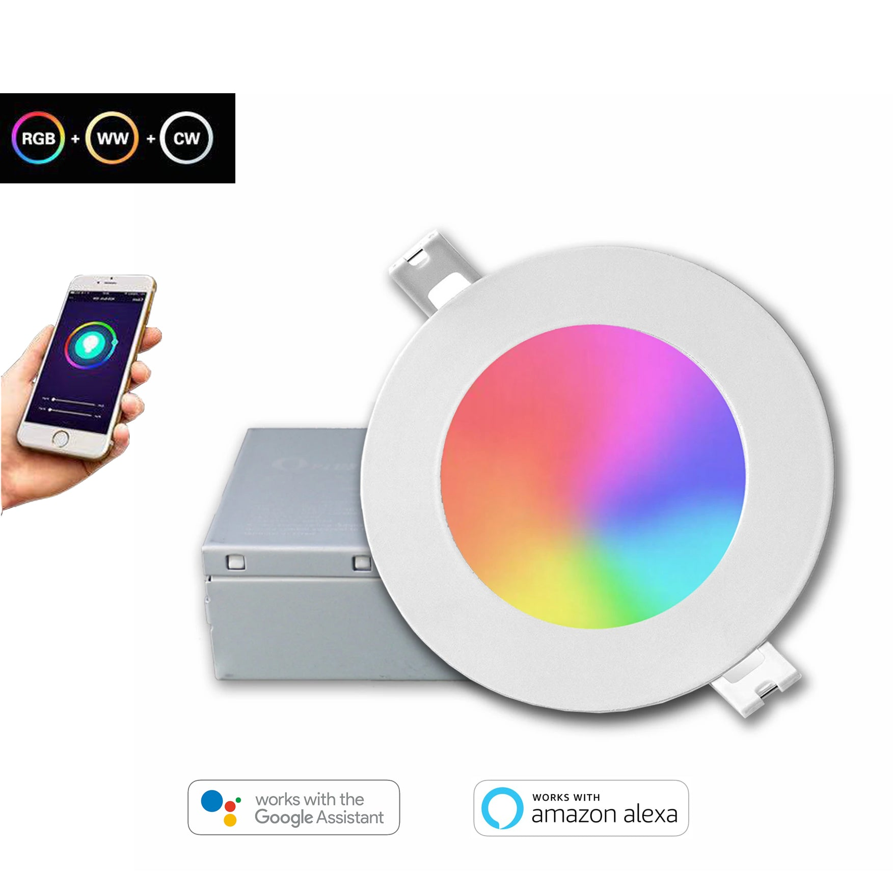 "4"" LED RGB Smart Slim Pot Light"