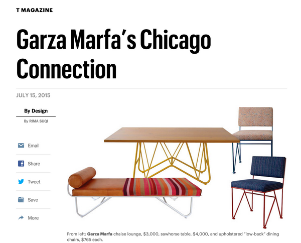 Garza Marfa NYT T Magazine Kruger Gallery Chicago Show