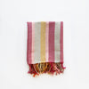 Linen / Cotton Burgundy Stripe Hand Towel