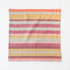 Linen / Cotton Burgundy Stripe Napkins, Set of 4