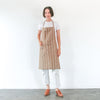 Linen / Cotton Small Ticking Tie Apron