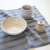 Linen / Cotton Small Ticking Napkins, Set of 4