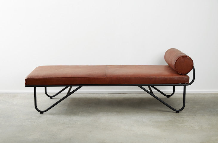 Luggage Leather Chaise : leather chaise - Sectionals, Sofas & Couches