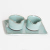 Eric Bonnin Salt/Pepper Cellars & Tray