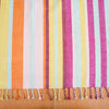 Striped Linen / Cotton Throw