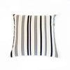 "Cotton Stripe Pillow 26"" Square - Black and Cream Stripe"