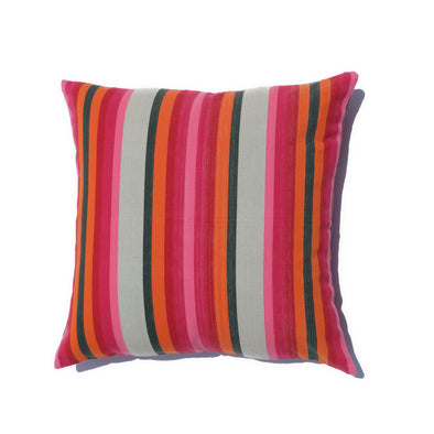 "Cotton Stripe Pillows 26"" Square - Pink, Orange, and Olive Stripe"