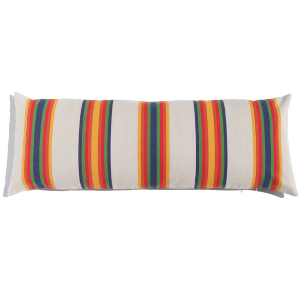 "Cotton Stripe 48"" Bolster - Serape Stripe"