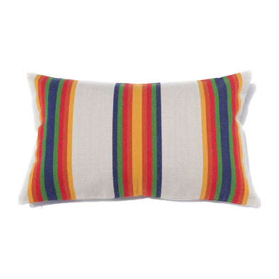 "Cotton Stripe Pillow 16"" x  26"" - Serape Stripe (Yellow Center)"