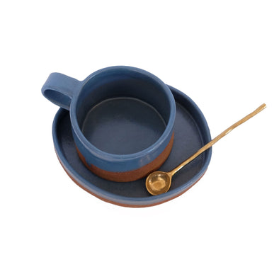 Dipped Espresso Cup and Plate by Lucrecia