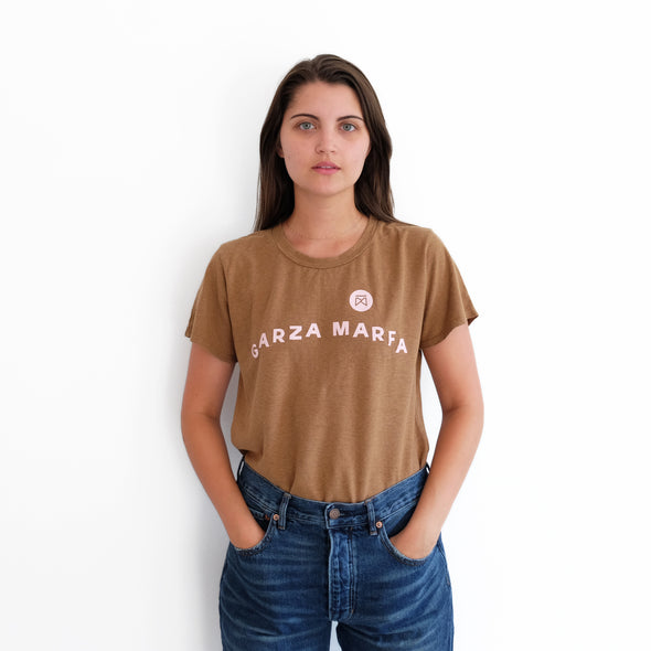 Garza Furniture Jungmaven - Brown + Pink Womens Tee