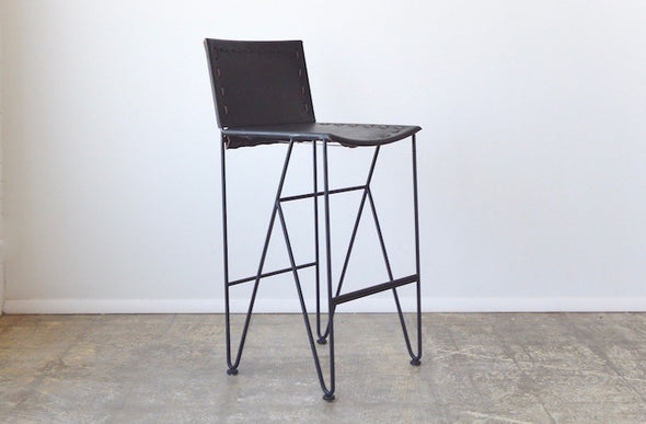 Saddle Leather Barstool Bar Height