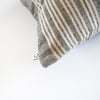 Linen Cotton End on End Stripe Bolster Pillowcase - Small