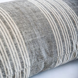 Linen Cotton End on End Stripe Bolster Pillowcase - Large