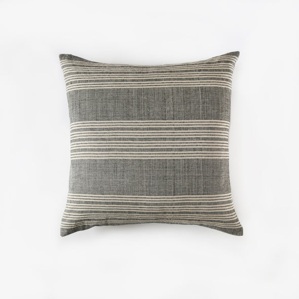 Linen Cotton End on End Stripe Square Pillowcase