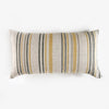 Linen Thin Stripe Bolster Pillow - Yellow, Grey, Black