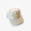 Garza Marfa Cap - Khaki Cap with Yellow Logo