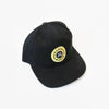 Garza Marfa Cap - Black Cap with Yellow Logo