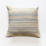 Linen Thin Stripe Square Pillowcase - Aqua, Olive, Blue