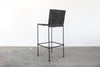 Saddle Leather Barstool Straight Leg Bar Height
