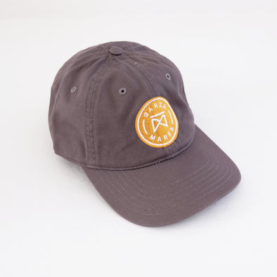 Garza Marfa Cotton Cap - Grey + Gold Logo