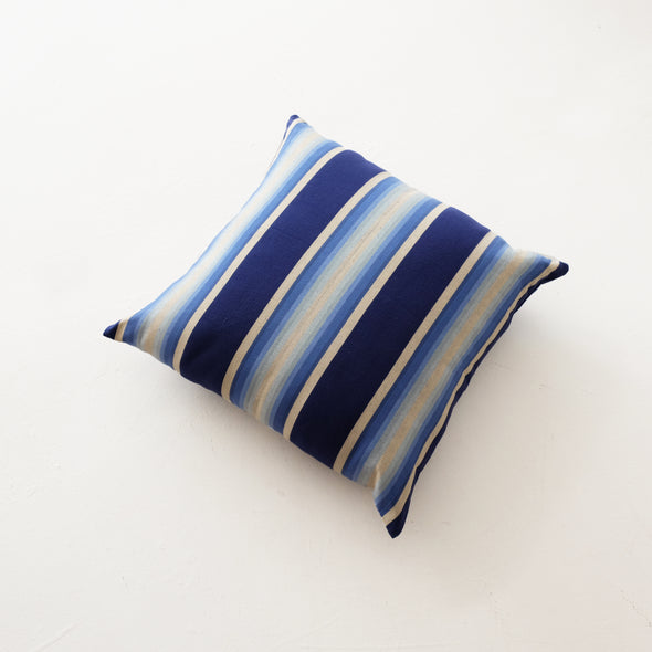 "Cotton Stripe Pillow 26"" Square - Indigo Ombre"
