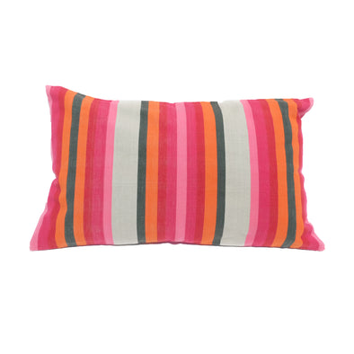 "Cotton Stripe Pillows 16"" x  26"" - Olive Stripe"