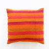Bolivian Blanket Pillow: Crimson Orange