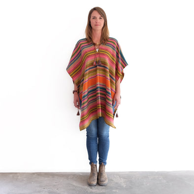 Desert Poncho - Orange