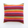 Bolivian Blanket Pillow: Lilac Rainbow