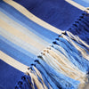 Indigo Ombre Striped Cotton Throw