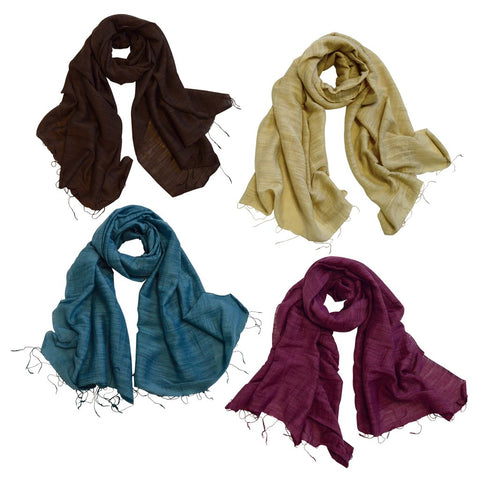 Simplicity Silk Cotton Scarves