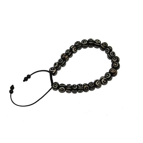 small dark eye beaded Unisex mala bracelet (for Men too)