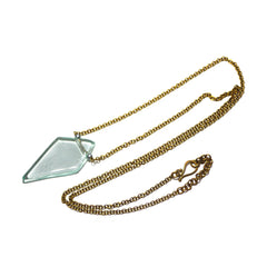 Diamond Glass Pendant Necklace