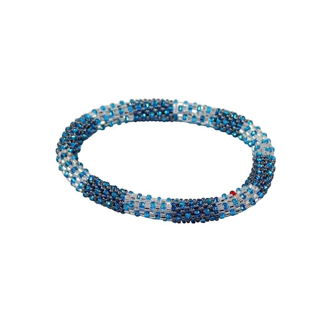 Winter Time Blues Bracelet Let it Snow