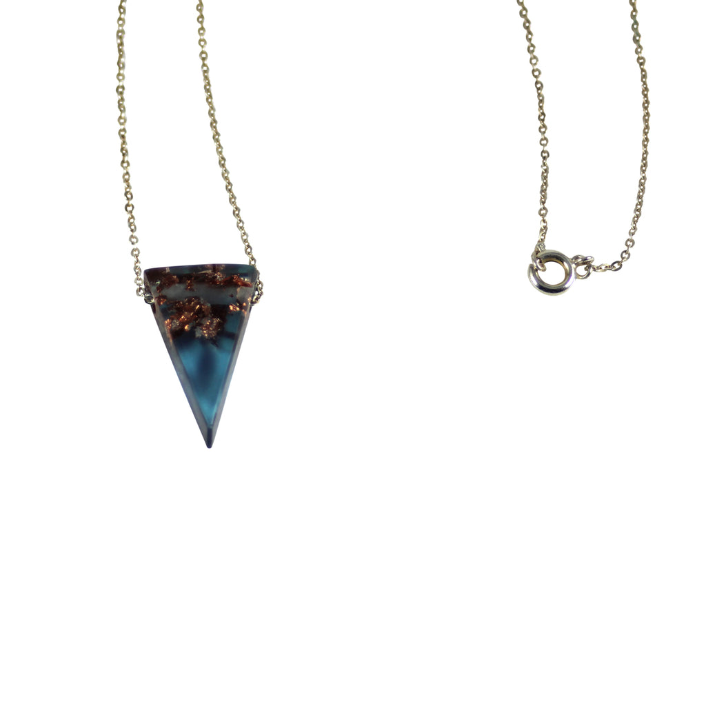 Sustainable Plant Based Eco-Resin Mini Triangle Necklace New!