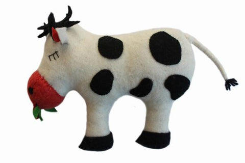 Cow Felted Friends Stuffed Animal - NEW!