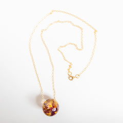 Sustainable Plant Based Eco-Resin Sphere Necklace - Botanicals