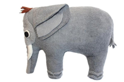 Elephant Felted Friends Stuffed Animal - NEW!