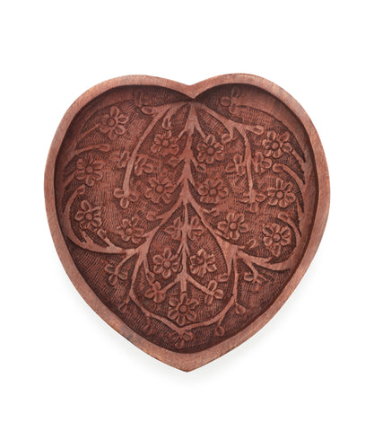 Rosewood Heart Tray