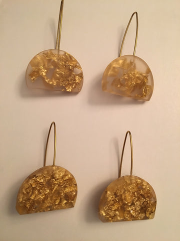 Sustainable Plant Based Eco-Resin Half Moon Earrings NEW