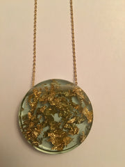 Sustainable Plant Based Eco-Resin Full Moon Necklace