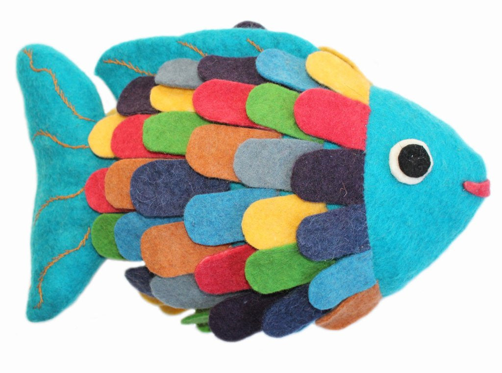Fish Felted Friends Stuffed Animal - NEW!
