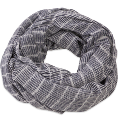 Hand-Blocked Printed Cotton Voile Scarves - Granada Stripes