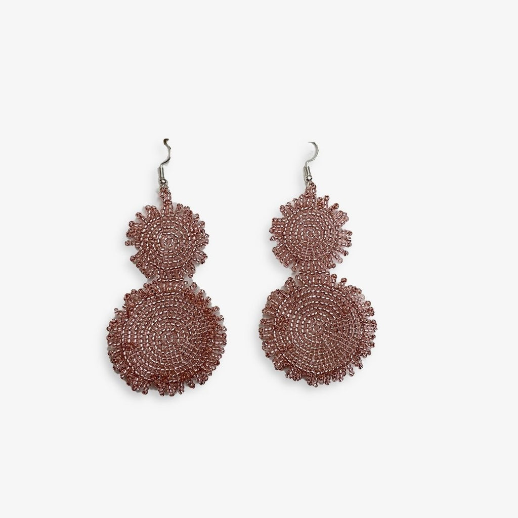 Heather Beaded Earrings New