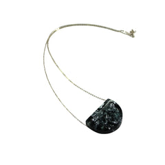 Sustainable Plant Based Eco-Resin Half Moon Necklace