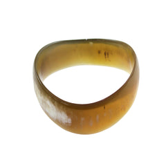 Handcarved Upcycled Bovine Horn Matte Unpolished/Brushed or Polished Bangle Bracelets