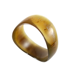 Handcarved Upcycled Bovine Horn Matte Unpolished/Brushed or Polished Bangle Bracelets NEW