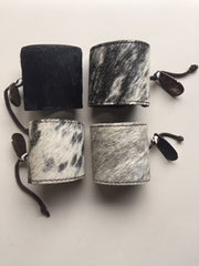 Cowfur and Leather Adjustable Cuff