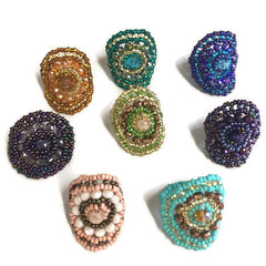 Olivia Beaded Ring New